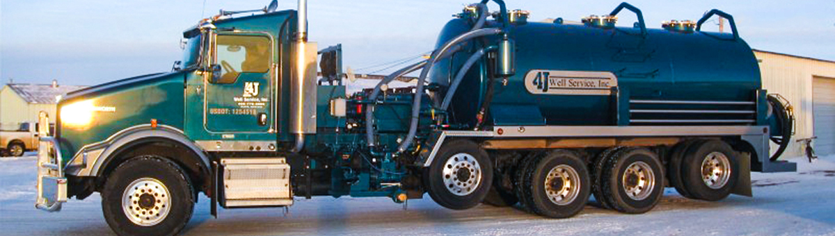 blue 4j well drilling vehicle